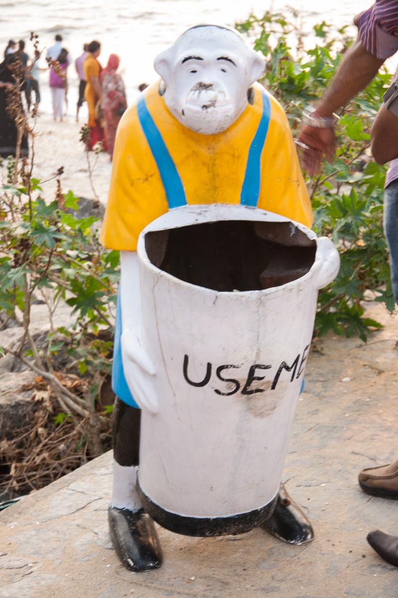Monkey Trash Can