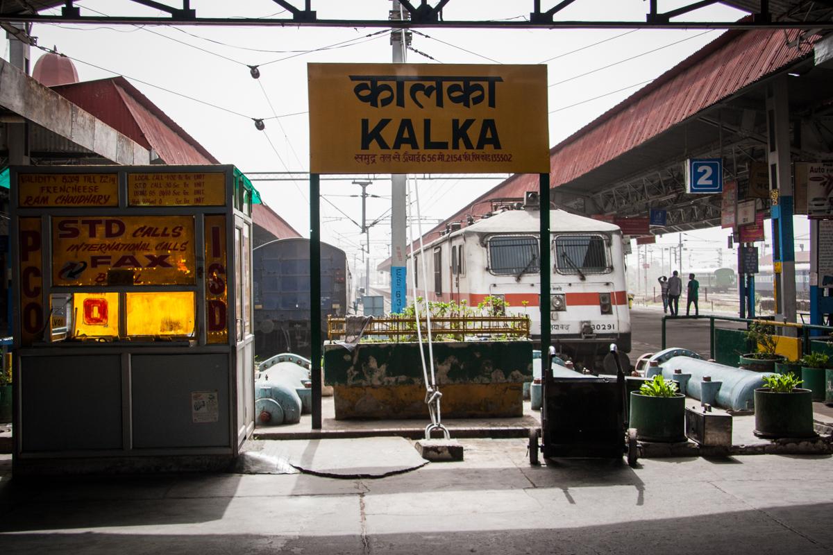 Station Sign at Kalka