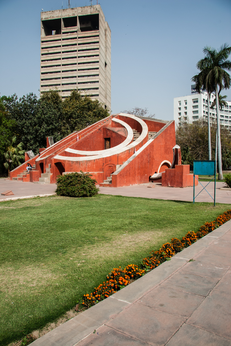 Misra Yantra with New Delhi in the Background