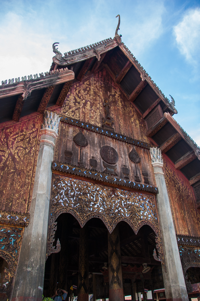 Wooden Temple Facade