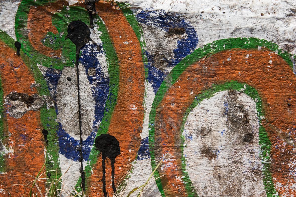 Orange and Green Graffiti