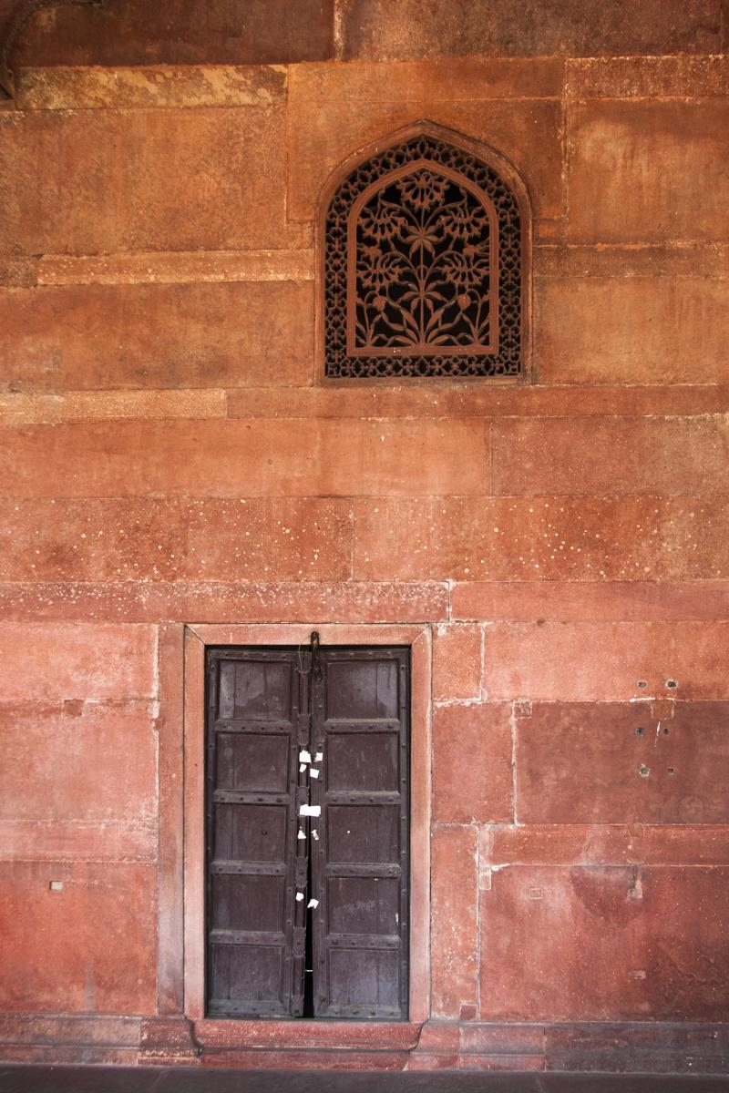 Door and Carved Window