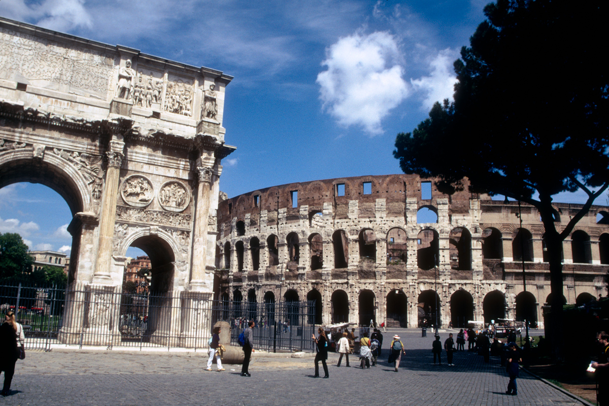 Coliseum and Arch of Constantine