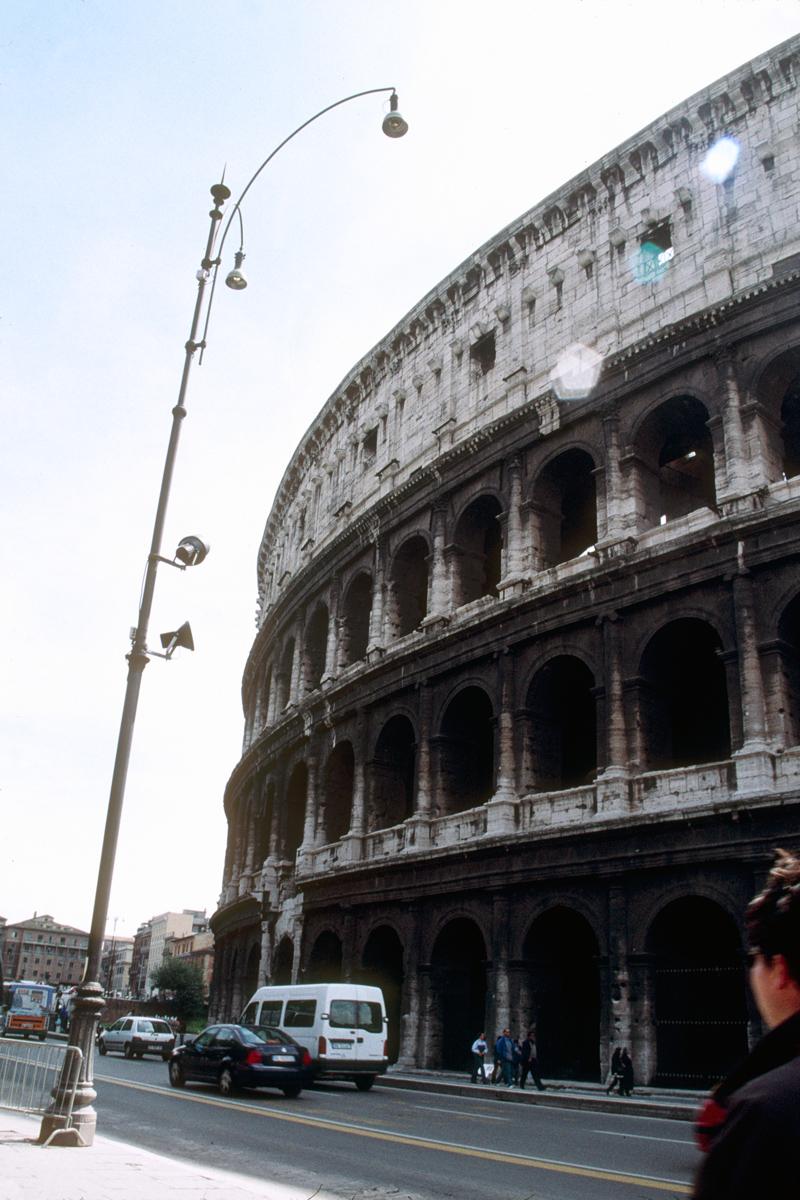 Coliseum and Streetlight