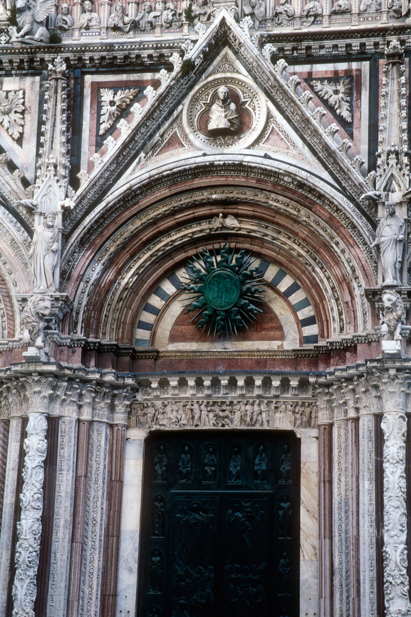 Siena Cathedral Pointed Arch with Sun Ornament