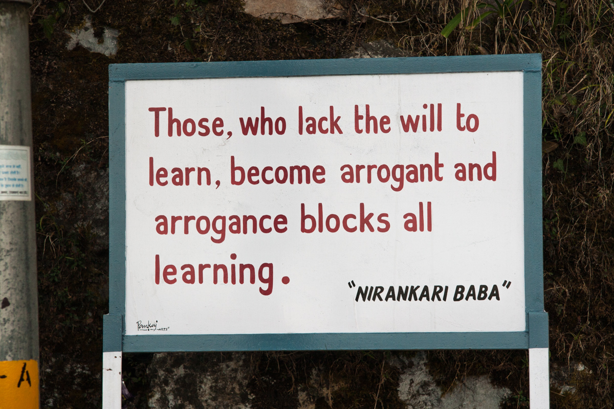 Arrogance Blocks all Learning