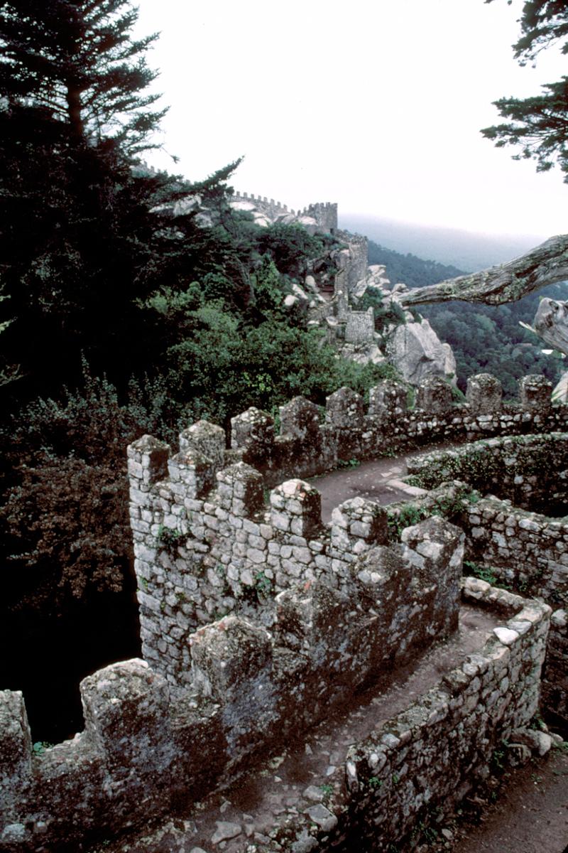 Atop the Walls of the Moorish Castle