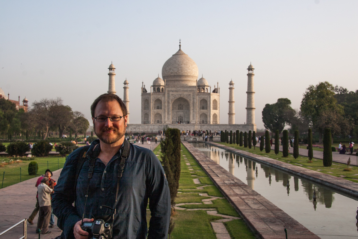 Dan at the Taj Mahal