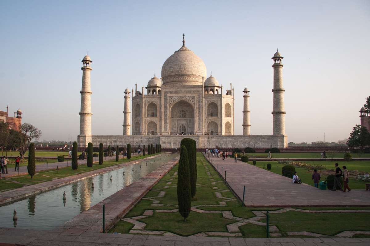Taj Mahal with Gardens and Reflecting Pool