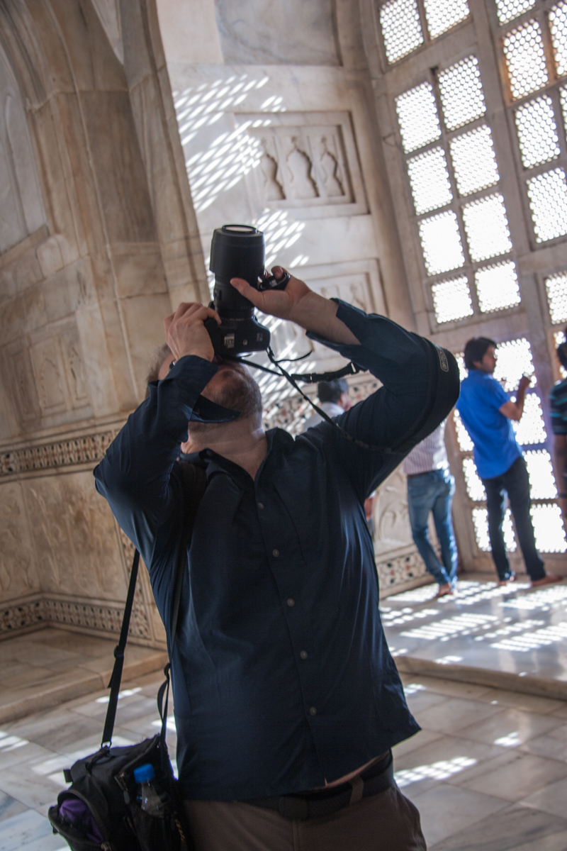 Dan Photographing Inside the Mausoleum