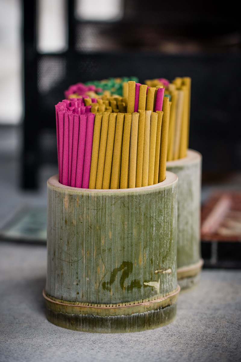 Incense in Bamboo Containers