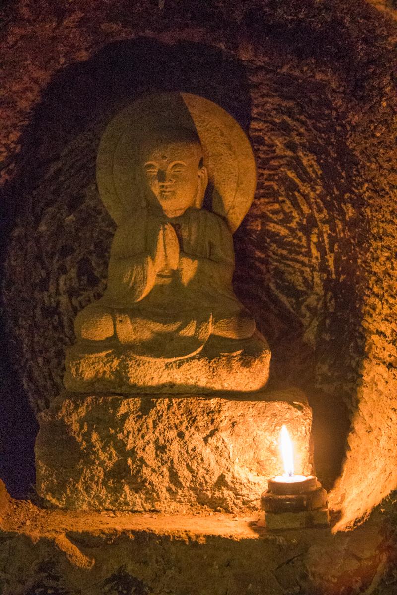 Inside the Benten-kutsu Cave