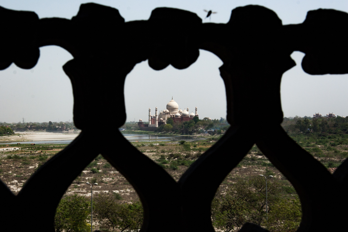 Looking Down the Yamuna at the Taj Mahal