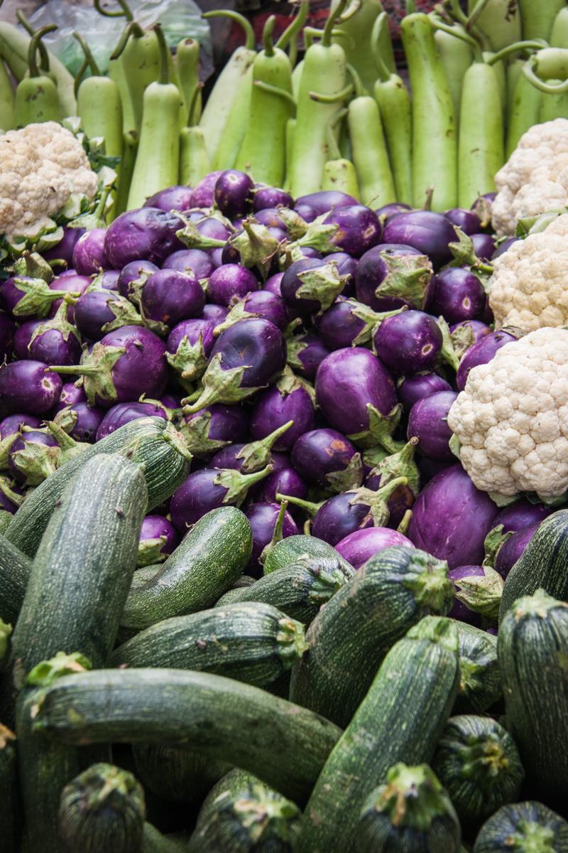 Zucchini, Eggplant, Gourds and Cauliflower