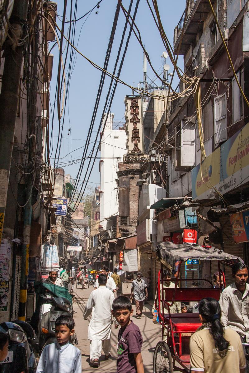 Market Street in Old Delhi