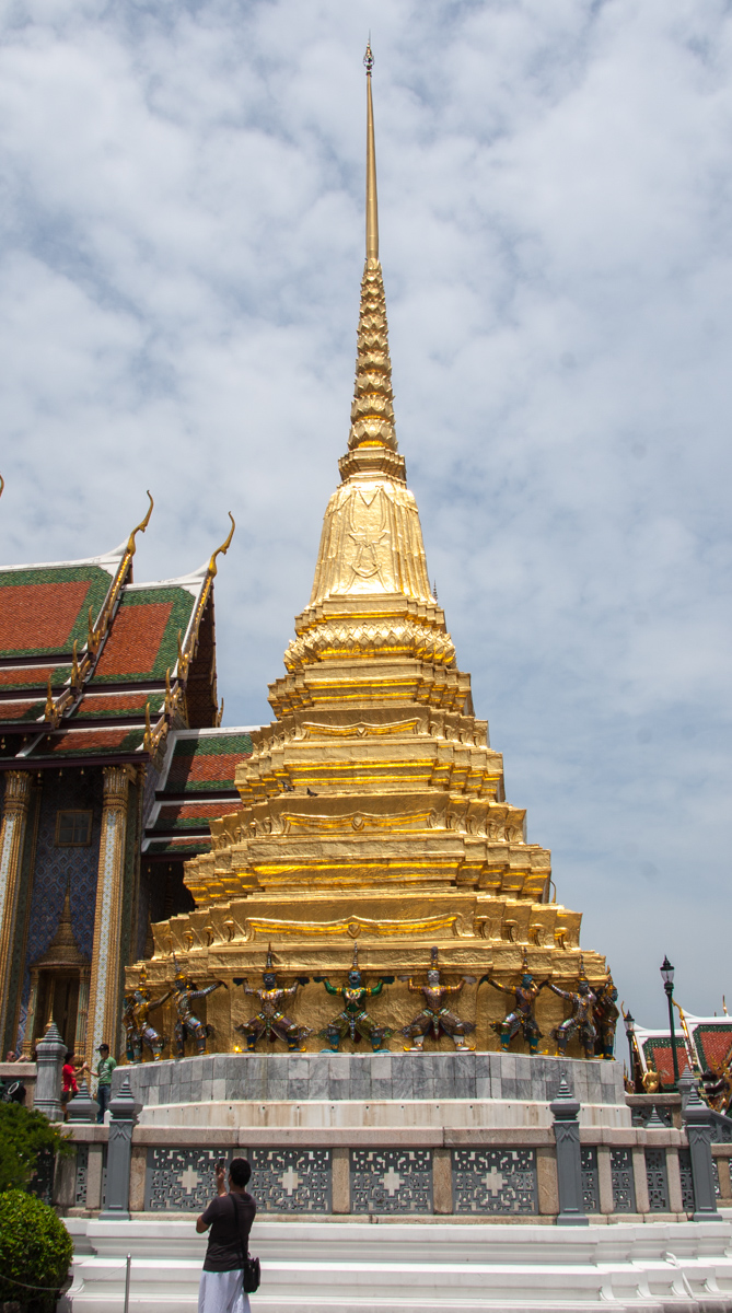 Golden Chedi with Yakshas