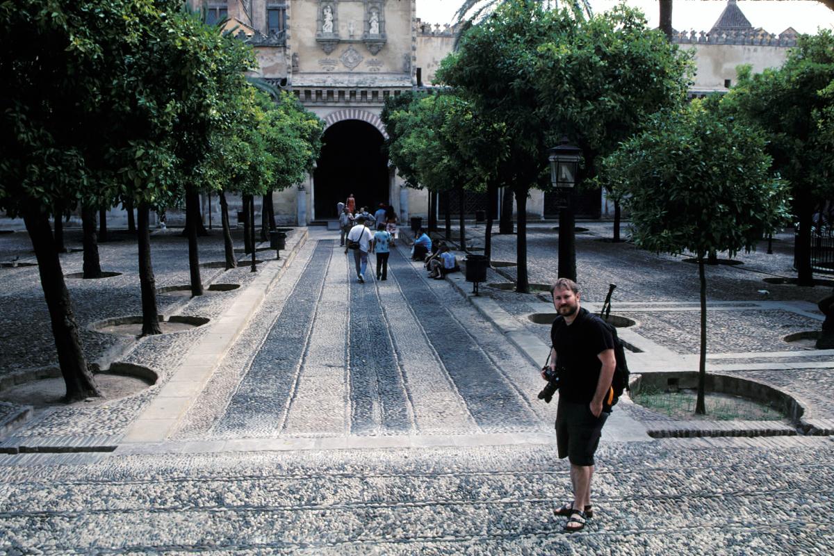 Dan on the Patio de los Naranjos