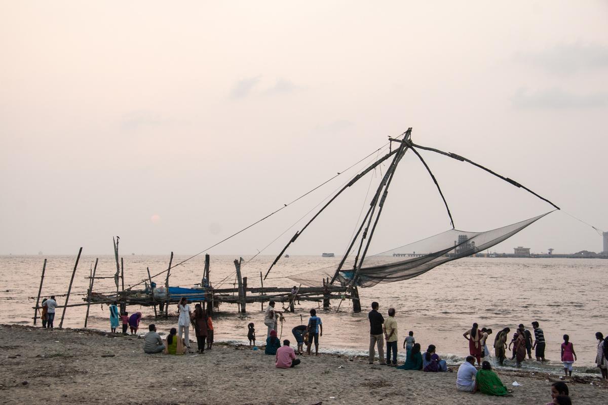 Full Length View of Fishing Net