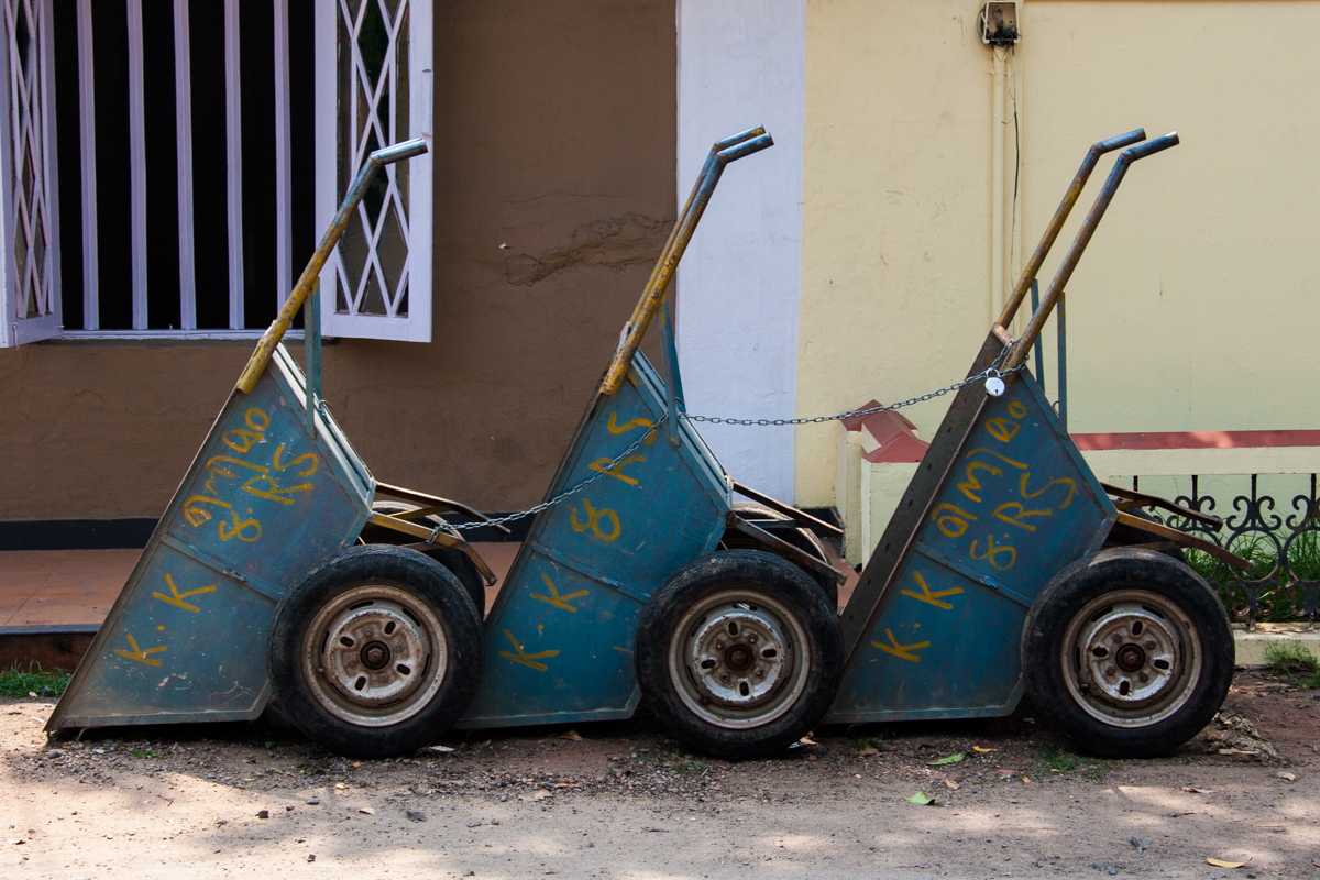 Wheelbarrow Trio