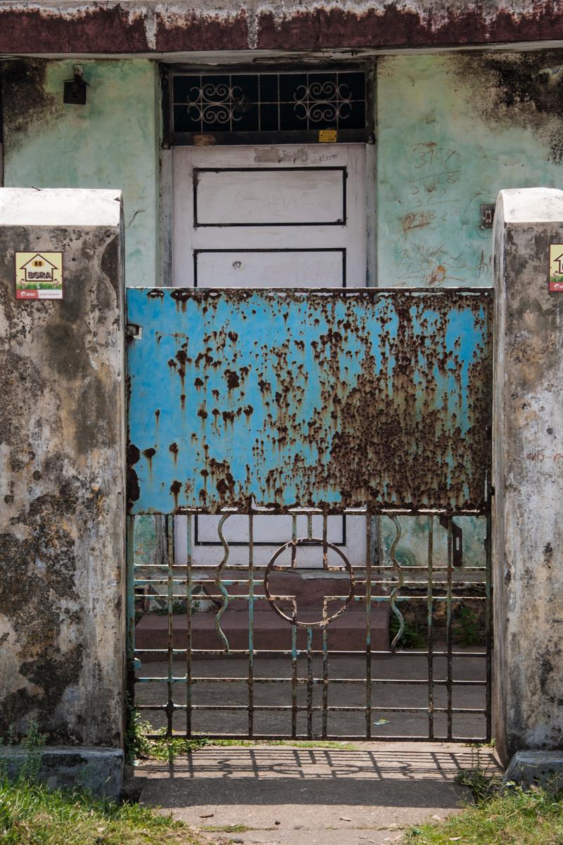 Rusting Blue Gate