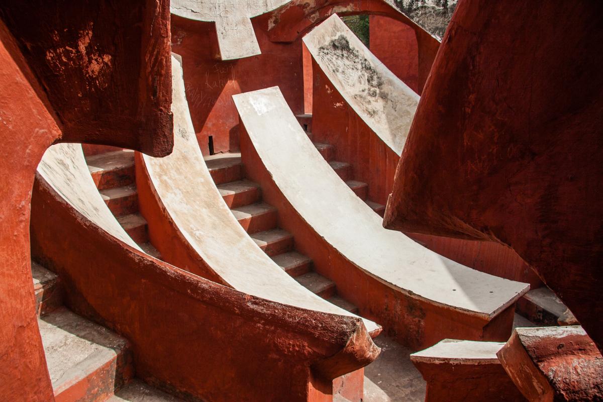 Interior of One of the Jai Prakash Yantras
