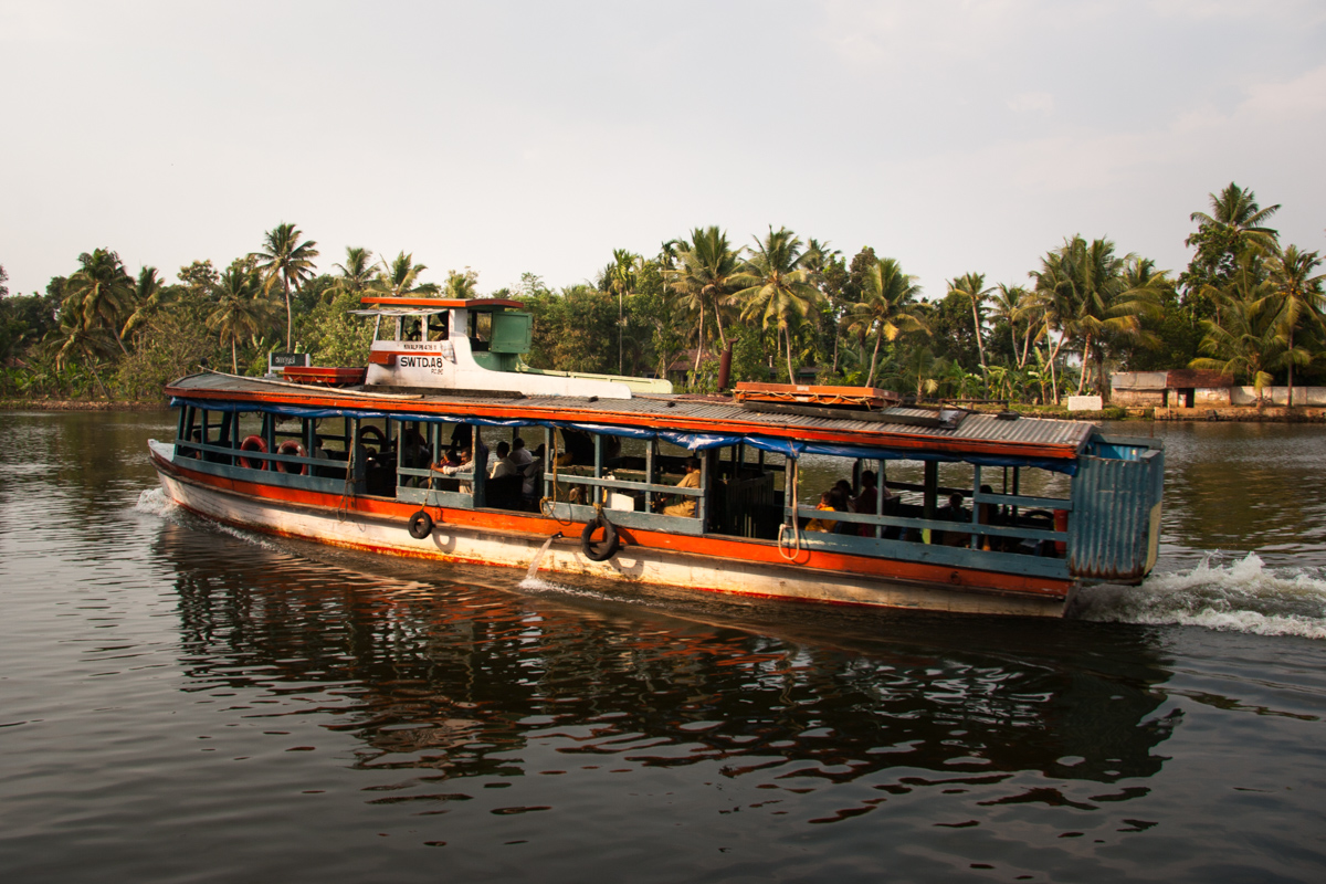 Ferry on the Pamba River