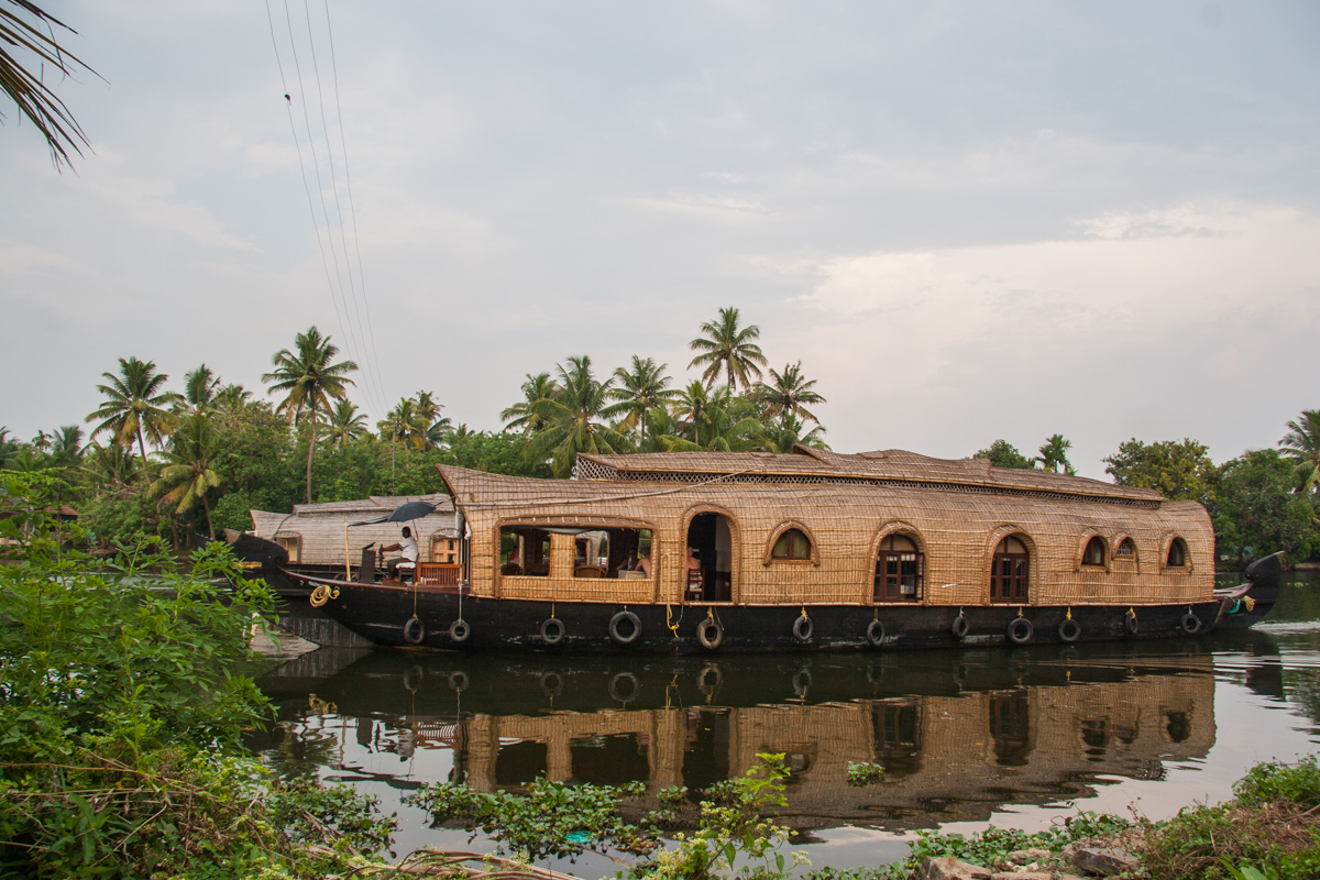 Thatched Houseboat