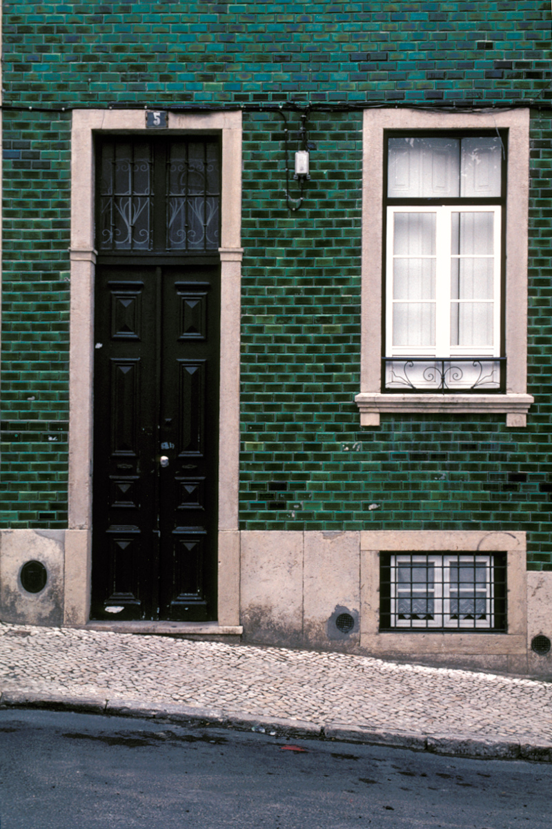 Green Tile Facade