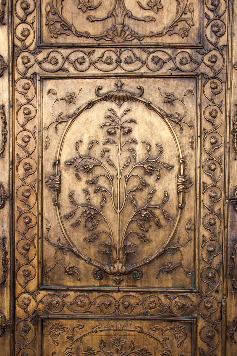 Bronze Door Detail