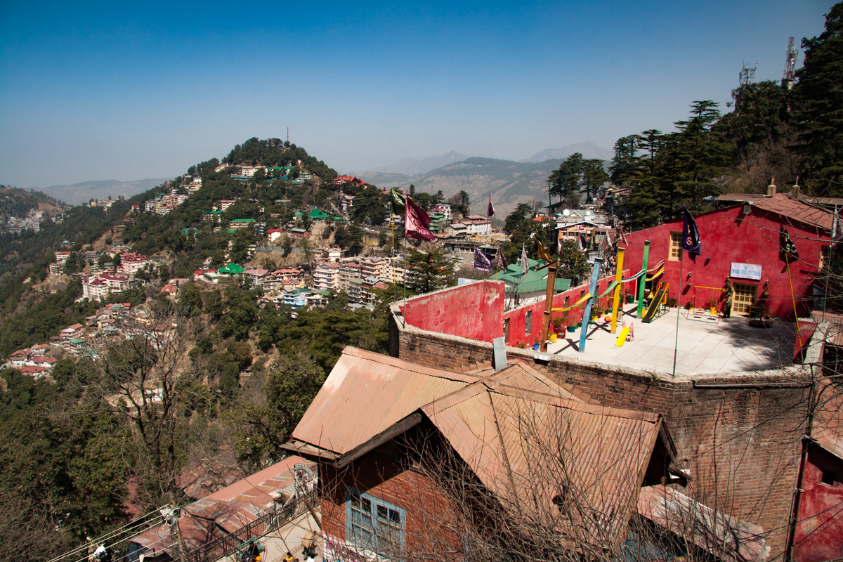 Looking Down Into Shimla