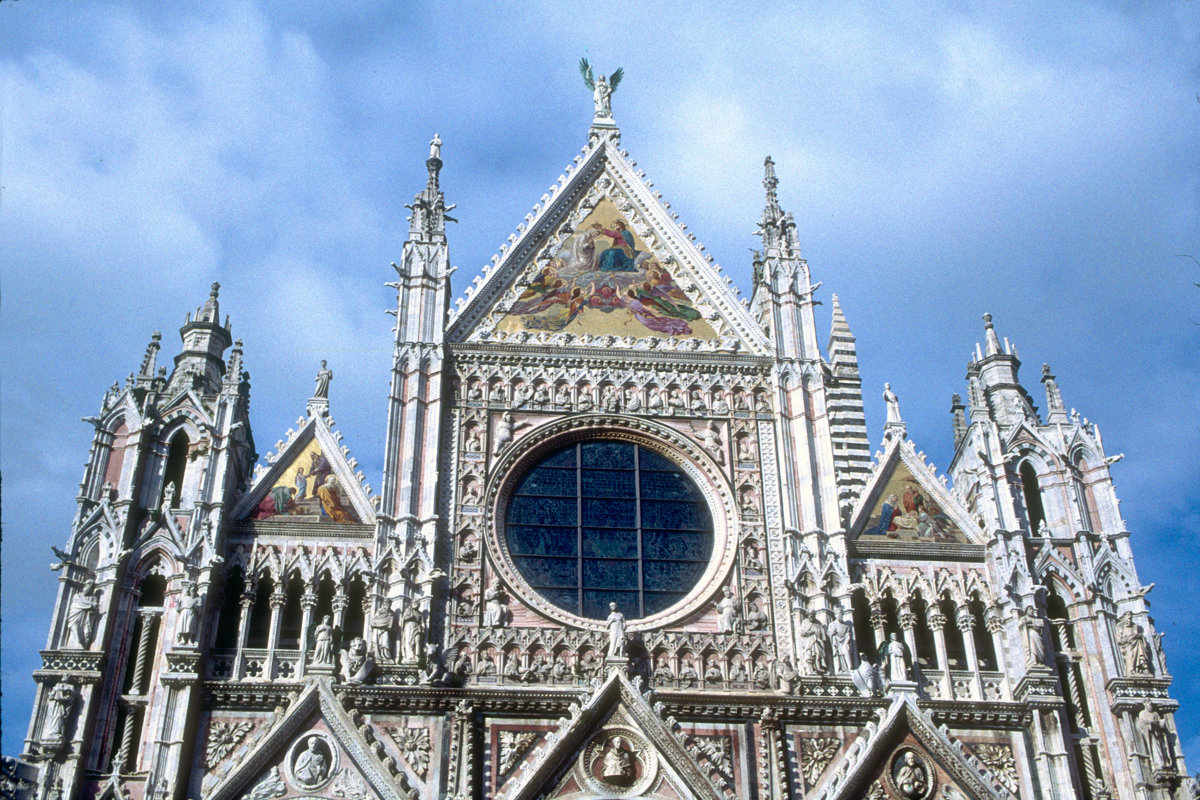 Siena Cathedral Facade and Sky