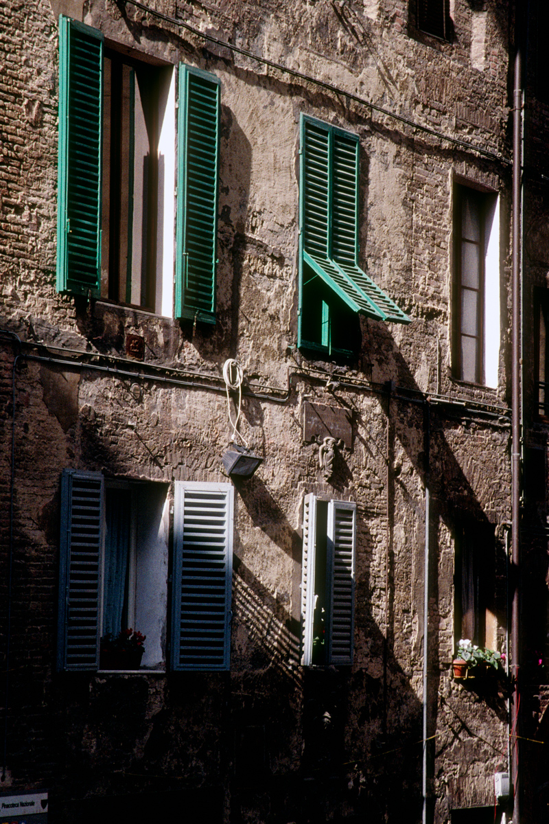 Shady Wall with Shutters
