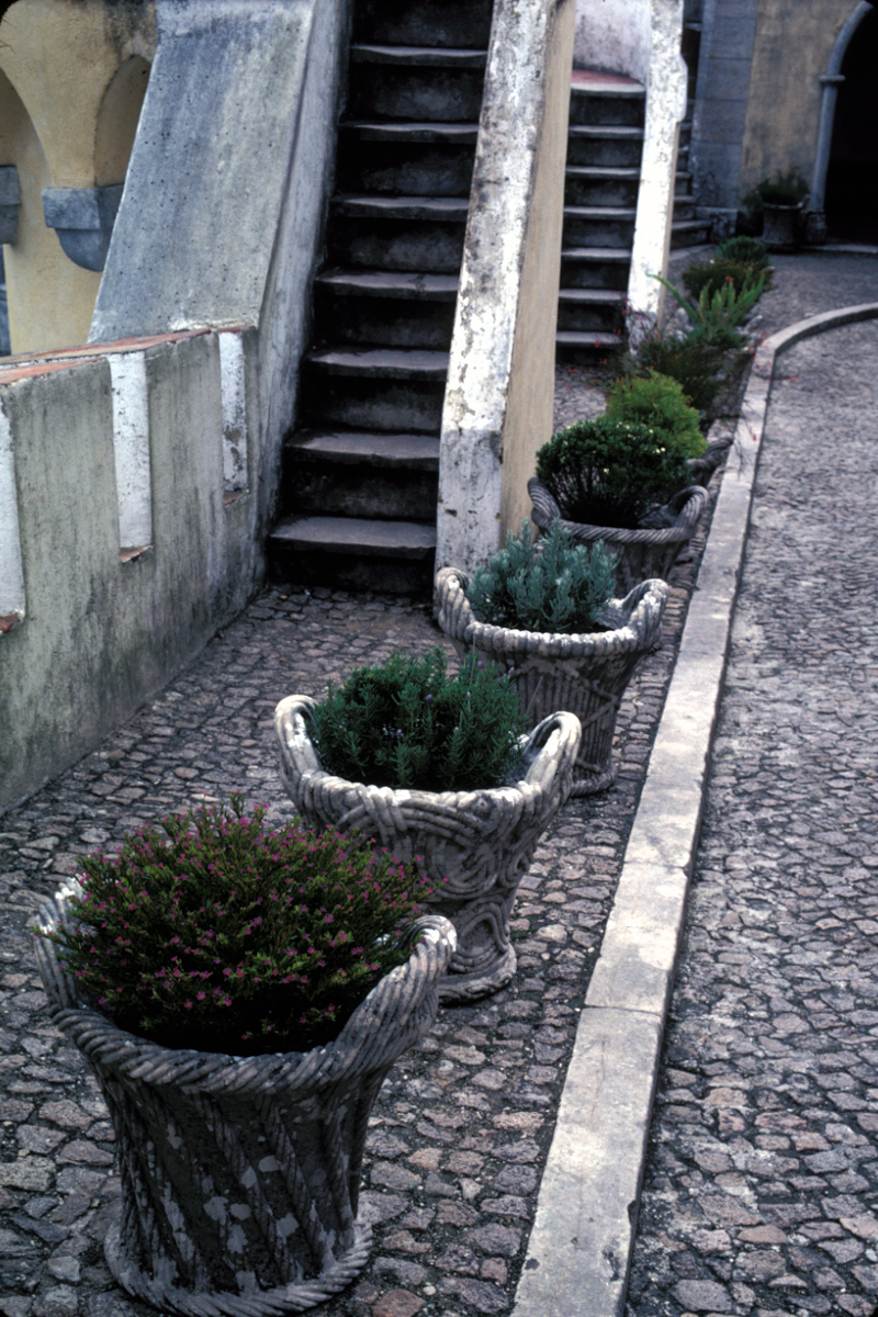 Pots by the Stairs
