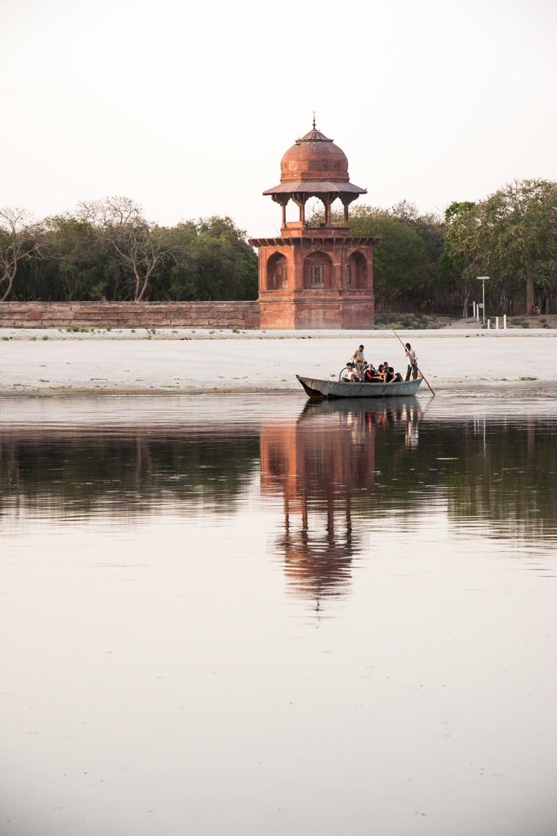 Boat on the Yamuna