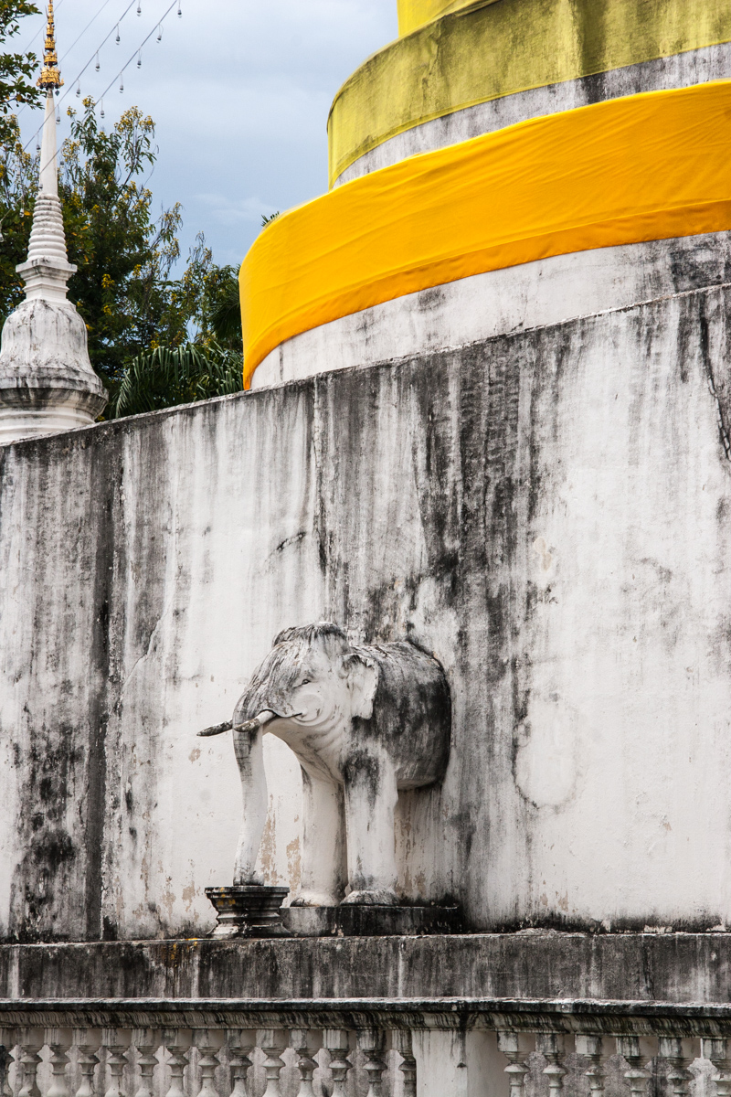 Chedi with Elephant