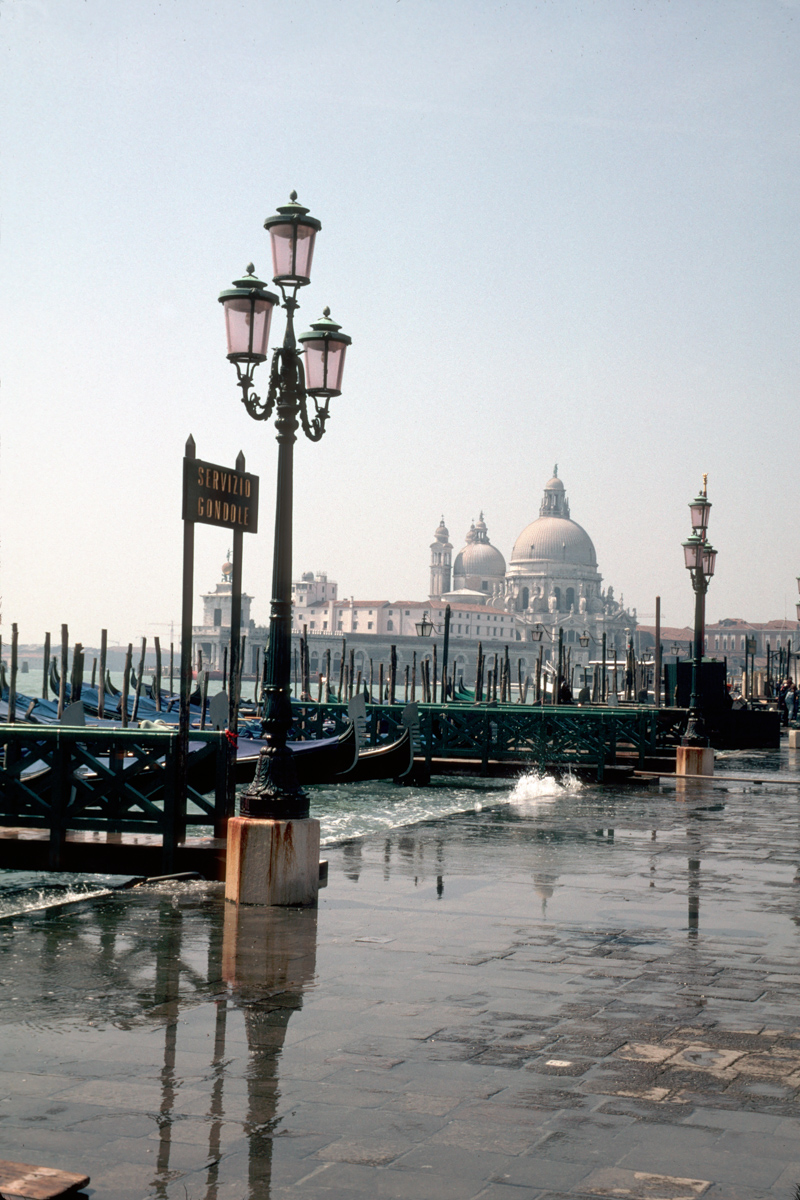 Waterfront with Lamps