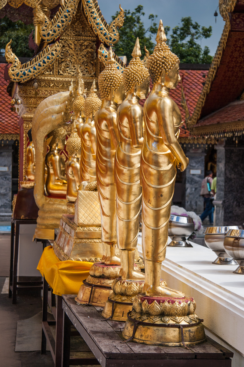 Row of Golden Statues