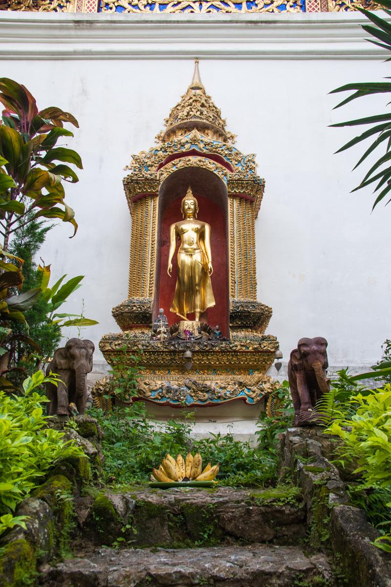 Shrine and Banana Offering