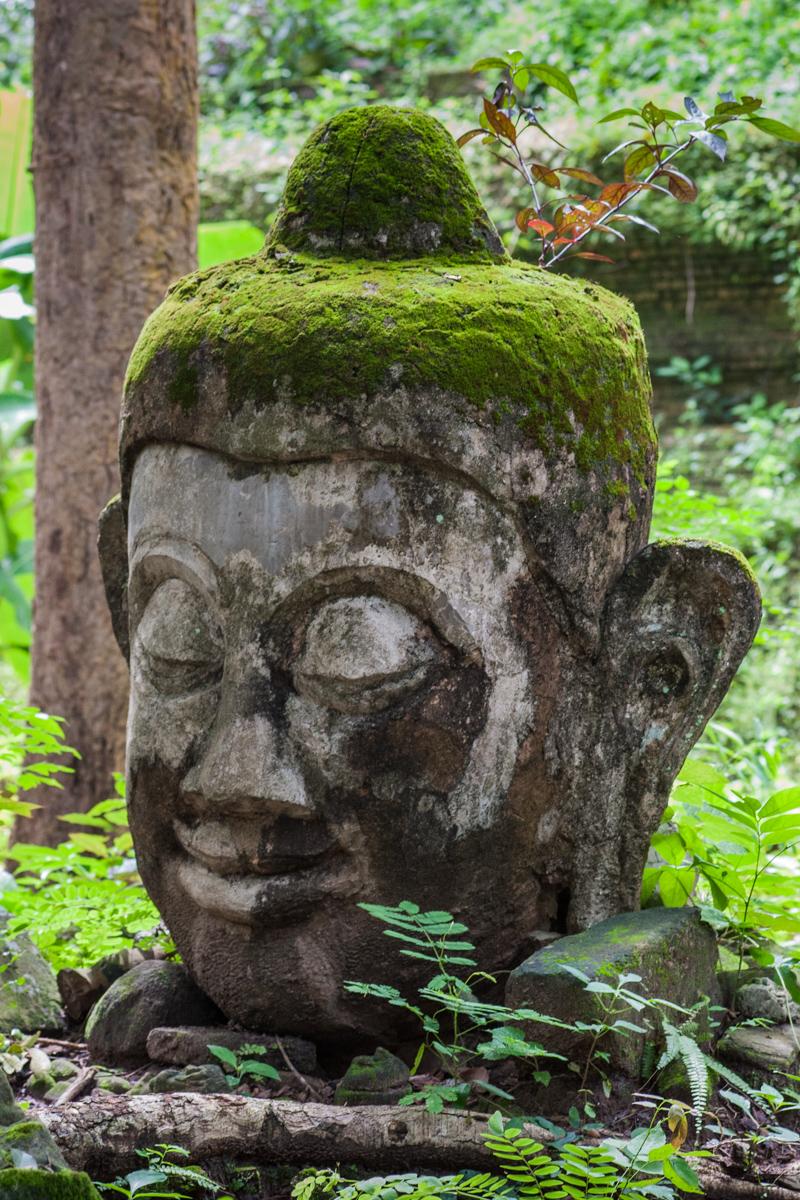 Serene Stone Head