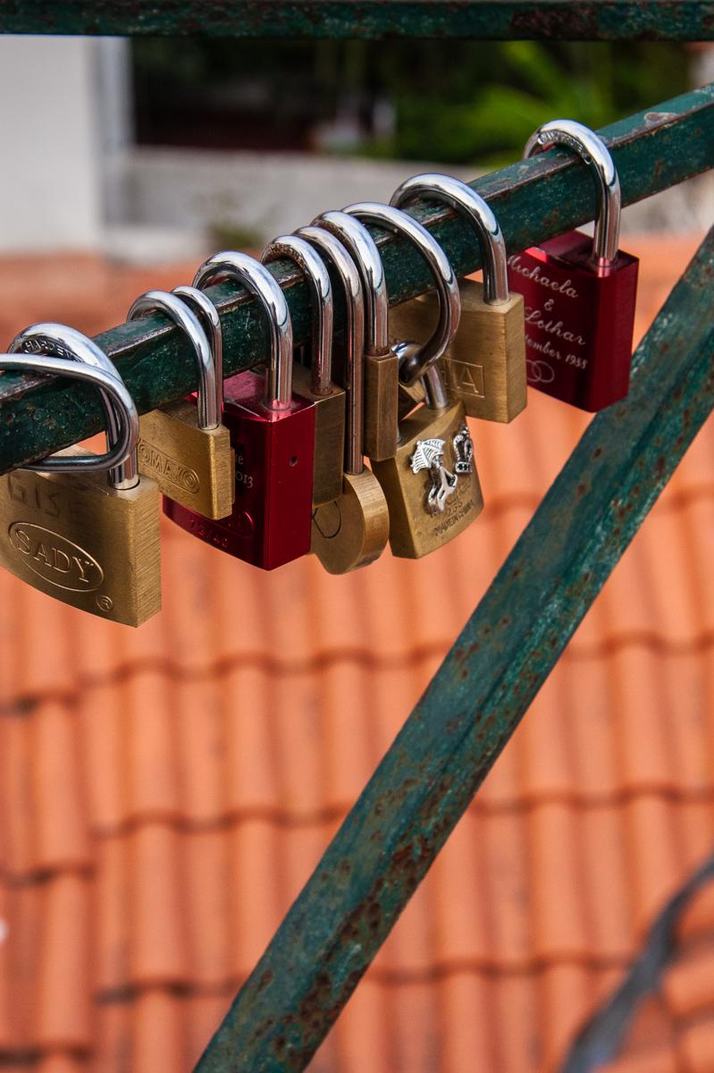 Locks on Bridge Railing