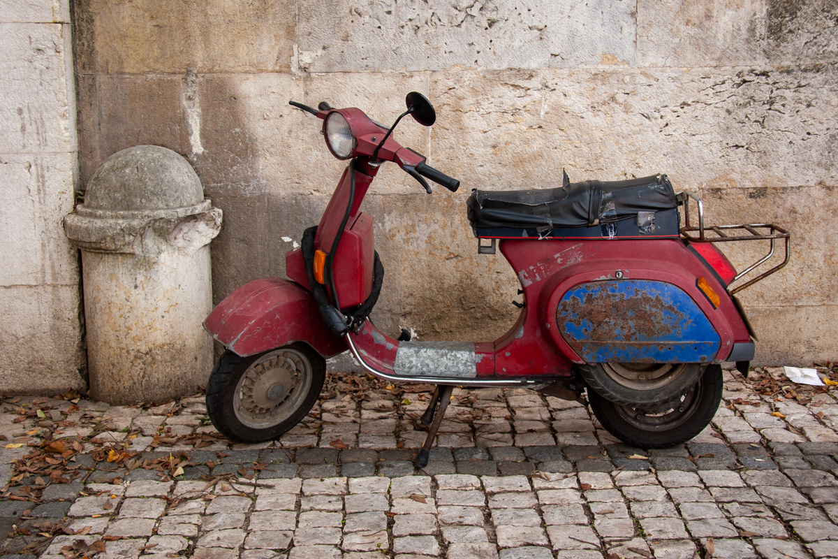 Well-Used Scooter