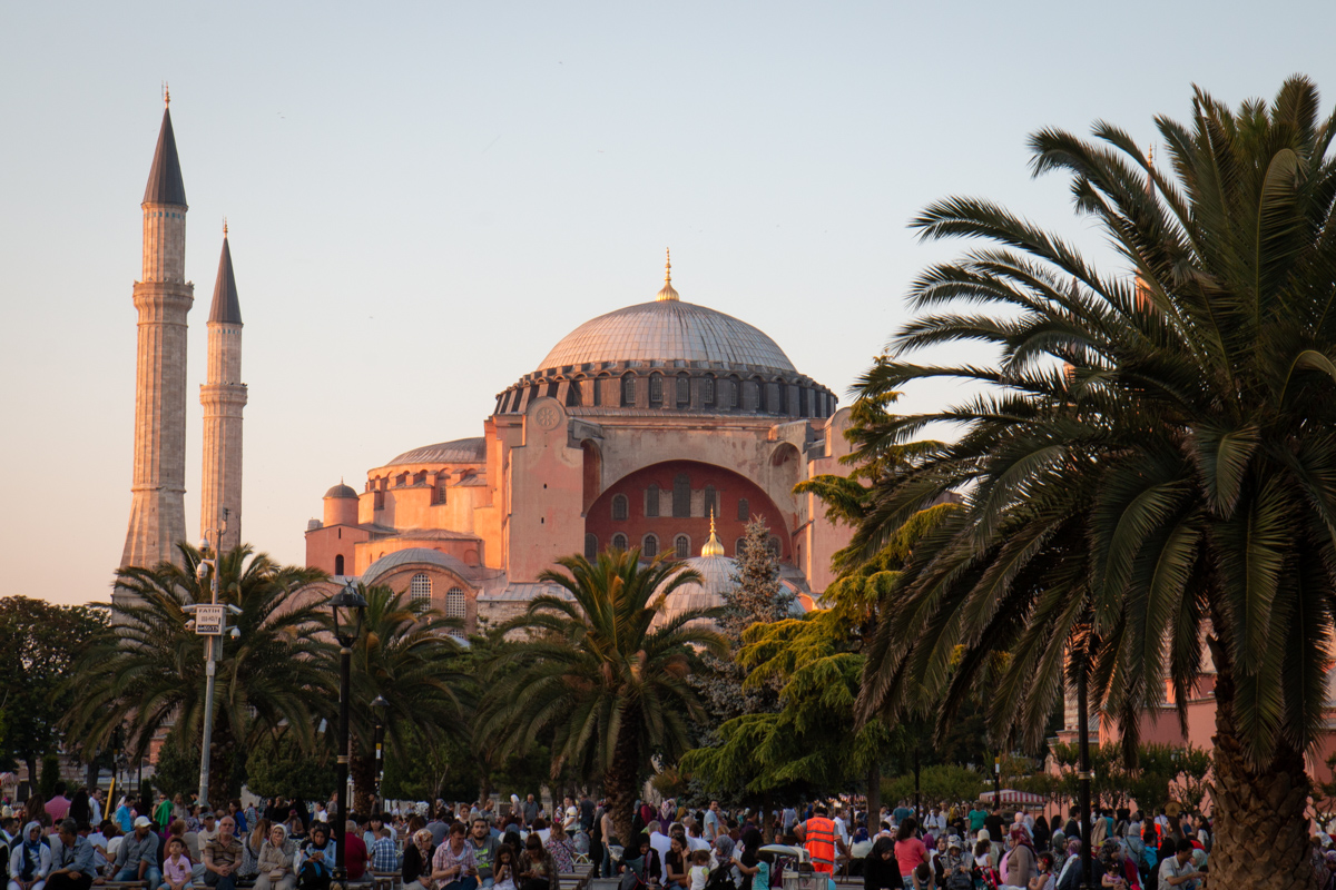 Dome and Minarets at Sunset