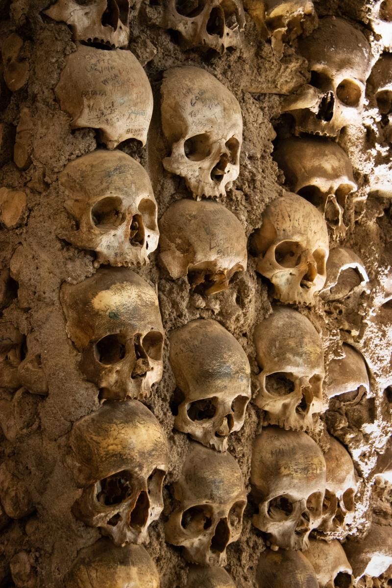Column Detail with Skulls