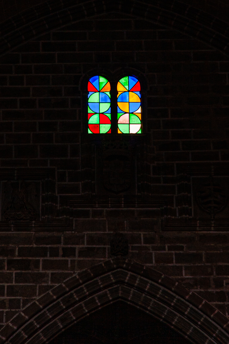 Pair of Stained Glass Arches
