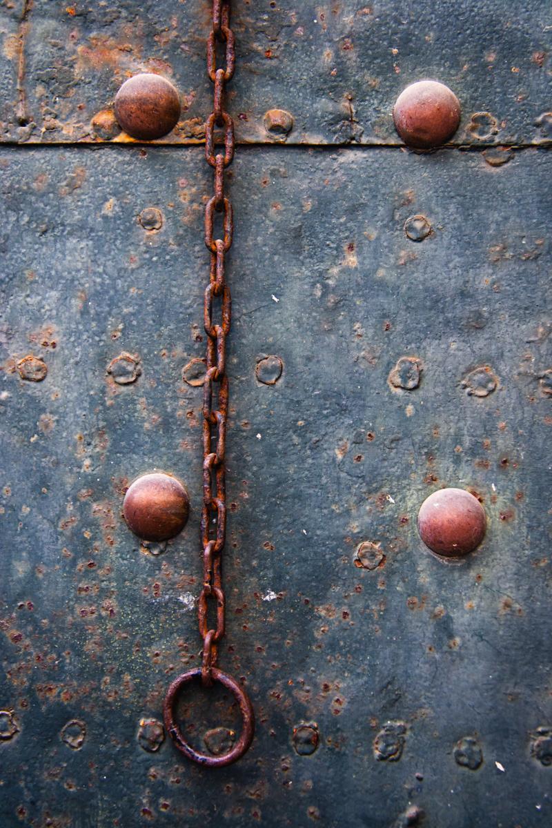 Door with Chain