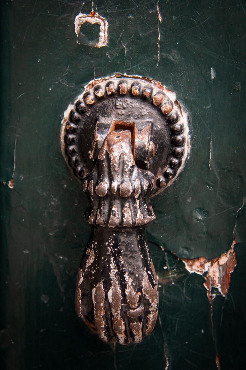 Door Knocker on Green