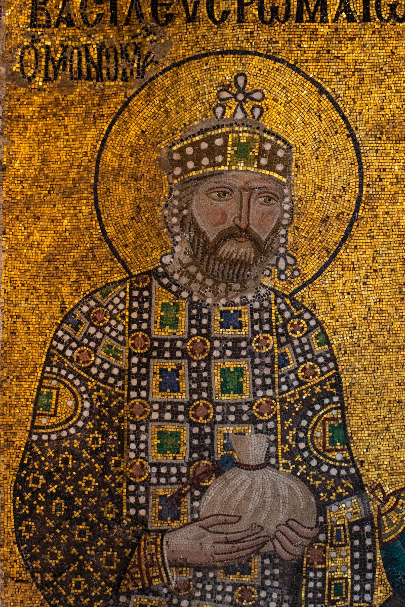 Emperor Constantine IX Detail