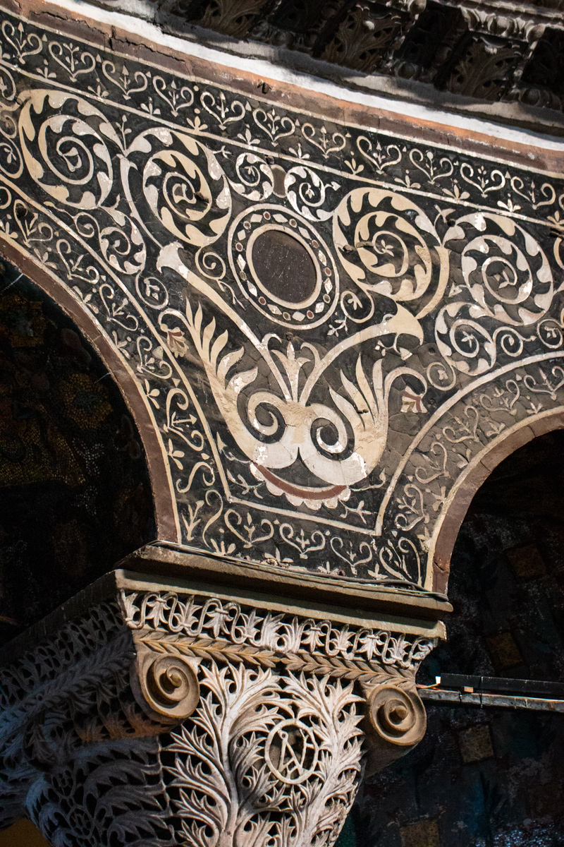 Spandrel with Inlaid Stone Decoration
