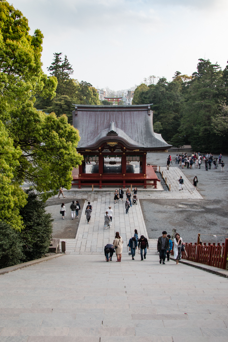 Looking Down from the Main Shrine