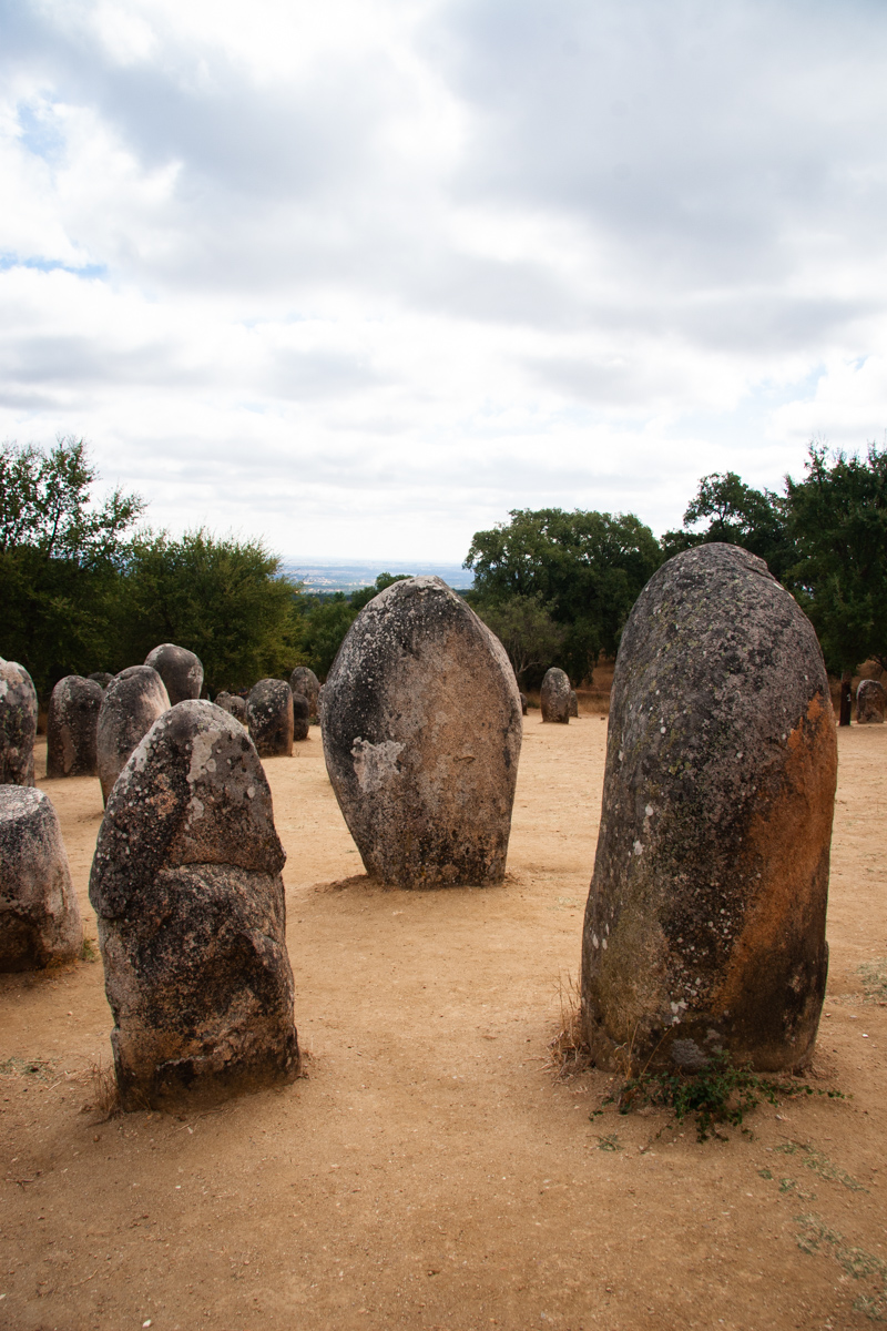 Trio of Menhirs Near the Western End of the Cromlech